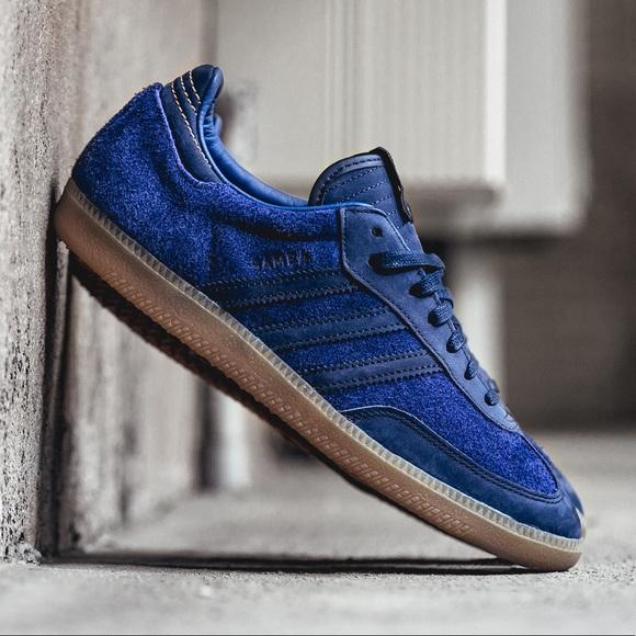 885fb1c40 adidas Shoes - Adidas x Starcow Blue Suede Sambas
